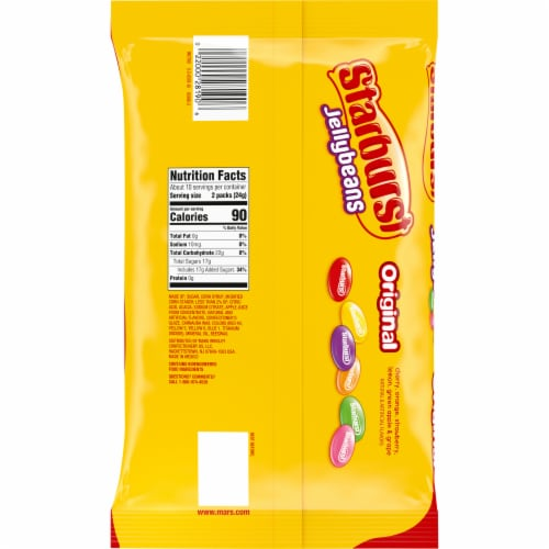 STARBURST Jelly Beans Chewy Easter Candy Fun Size Candy Bag Perspective: back