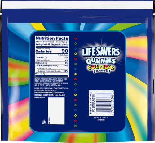 Life Savers® Collisions Gummies Family Size Pouch Perspective: back