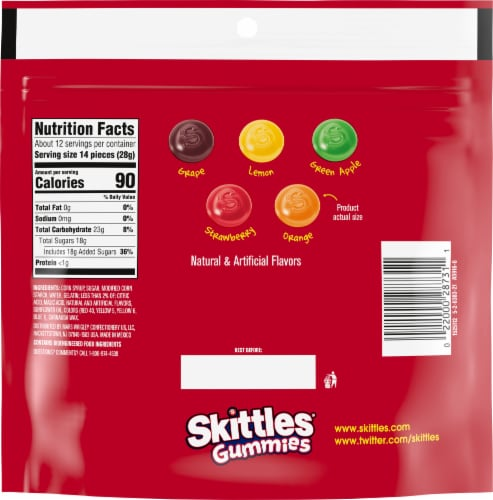 Skittles® Gummies Sharing Size Perspective: back