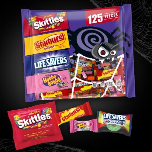 Mixed Sugar Grab Halloween Candy Bag Perspective: back