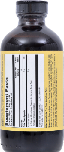 Honey Gardens Traditional Immune Formula Elderberry Syrup Perspective: back