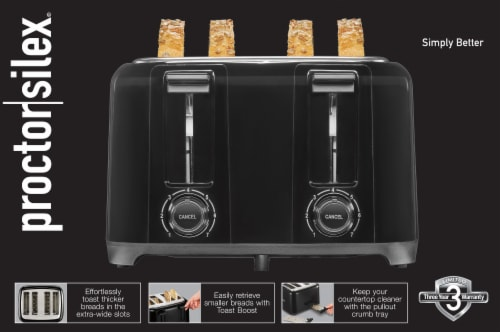 Proctor Silex® 4 Slice Cool Touch Toaster Perspective: back