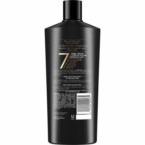 TRESemme Repair & Protect 7 with Biotin Shampoo Perspective: back