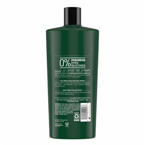 Tresemme Pomegranate & Camellia Oil Botanique Color Vibrance & Shine Low Lather Shampoo Perspective: back