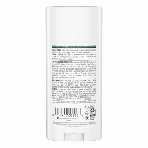 Schmidt's Fresh Fir and Spice Aluminum Free Deodorant Perspective: back