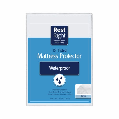 Rest Right Waterproof Fitted Mattress Protector Perspective: back