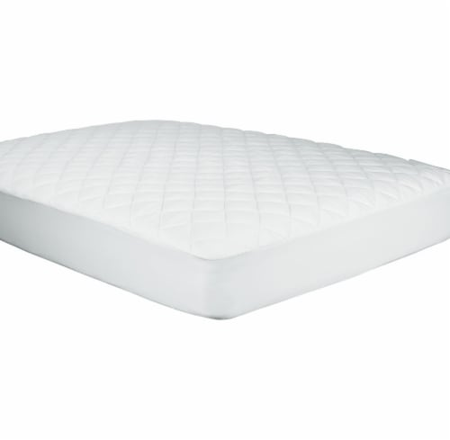 Sealy 300 Thread Count White Mattress Pad Perspective: back