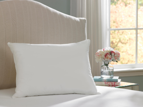 AllerEase Ultimate Protection and Comfort Zippered Breathable Pillow Protector - White Perspective: back