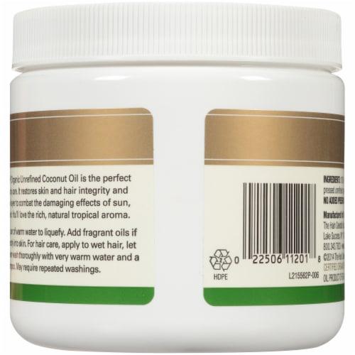 Spectrum® Essentials Organic Unrefined Coconut Oil Perspective: back