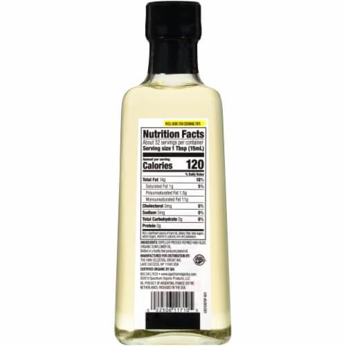 Spectrum™ Organic Refined Sunflower Oil Perspective: back