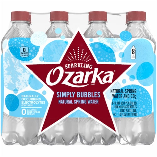 Ozarka Simply Bubbles Sparkling Spring Water Perspective: back