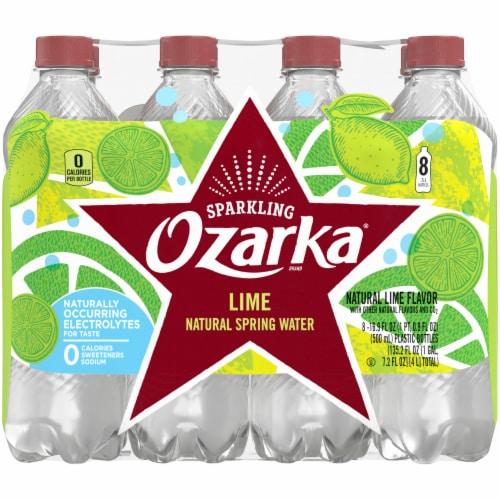 Ozarka Zesty Lime Sparkling Spring Water Perspective: back