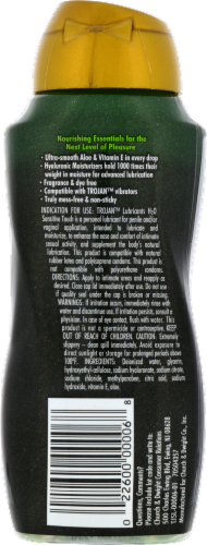 Trojan H2O Sensitive Touch Water Based Lubricant Perspective: back