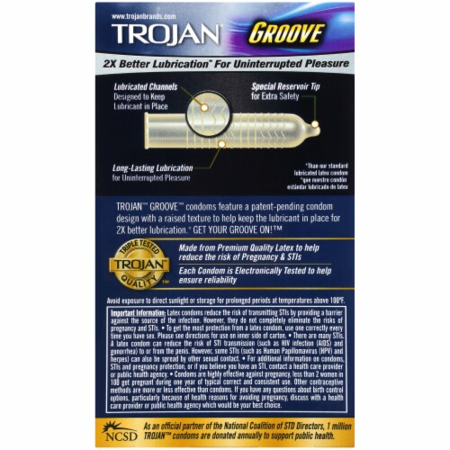 Trojan Groove Lubricated Condoms Perspective: back