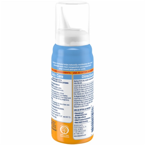 Arm & Hammer Simply Saline Drug Free Instant Relief Nasal Mist Perspective: back