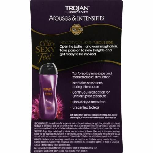 Trojan Arouses & Intensifies Personal Lubricant Perspective: back
