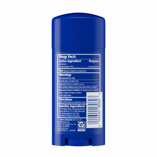 Arrid Extra Extra Dry Unscented Solid Antiperspirant Deodorant Perspective: back