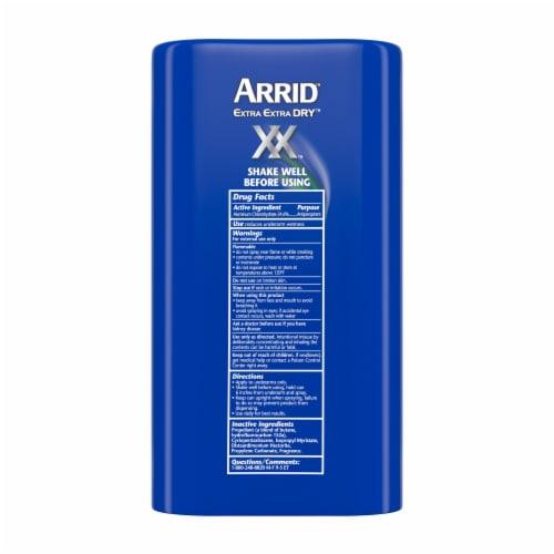 Arrid XX Extra Extra Dry Ultra Fresh Ultra Clear Aerosol Antiperspirant Deodorant Twin Pack Perspective: back