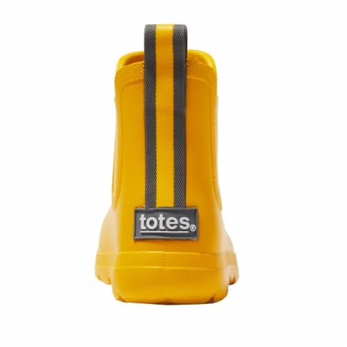 Totes® Toddler's Chelsea Short Rain Boots - School Bus Perspective: back