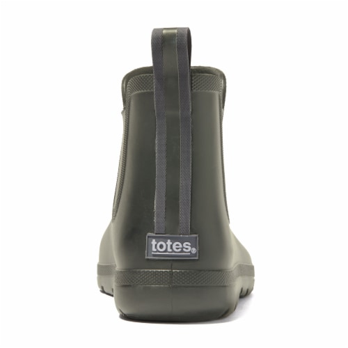 Totes® Men's Chelsea Short Rain Boots - Loden Perspective: back