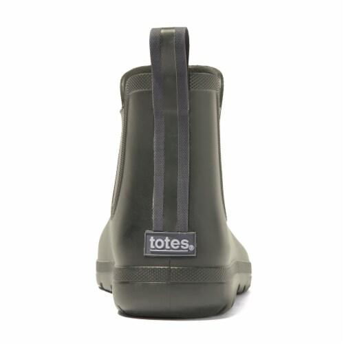 Totes® Men's Chelsea Short Rain Boots - Loden Perspective: back