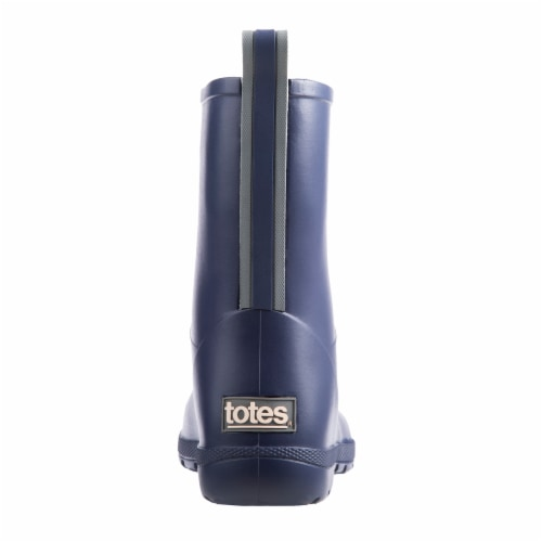 Totes® Kid's Charley Tall Rain Boots - Navy Perspective: back