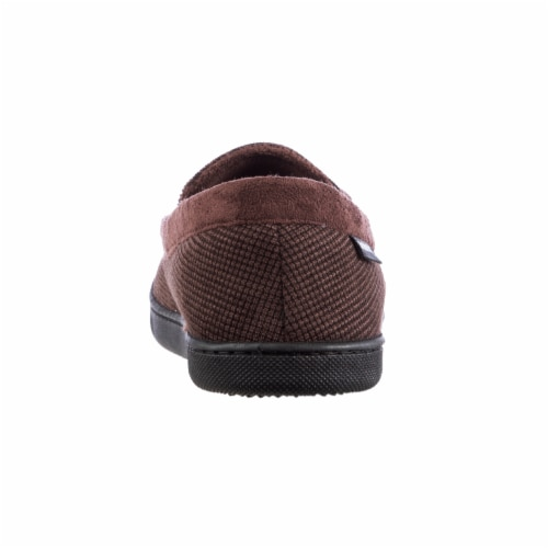 Isotoner® Mini Box Cord Luke Moccasin with Lacing - Brown Perspective: back