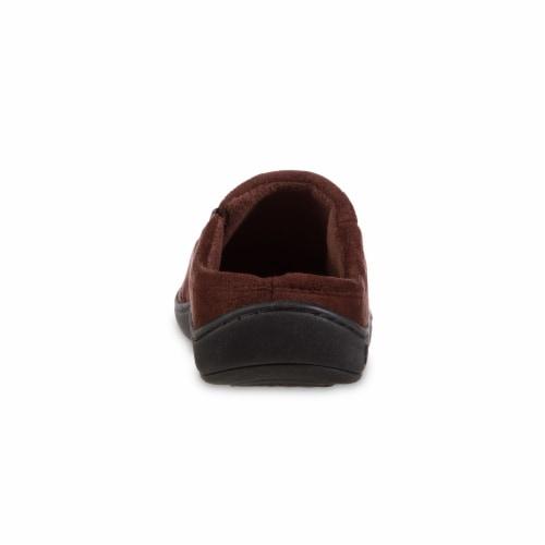 Isotoner® Men's Herringbone Logan Hoodback - Dark Brown Perspective: back