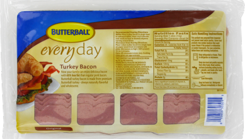 Butterball Original Turkey Bacon Perspective: back