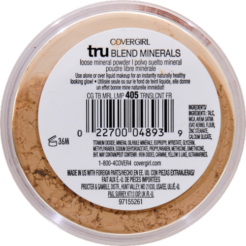 CoverGirl Tru Blend Minerals 405 Light Mineral Powder Perspective: back