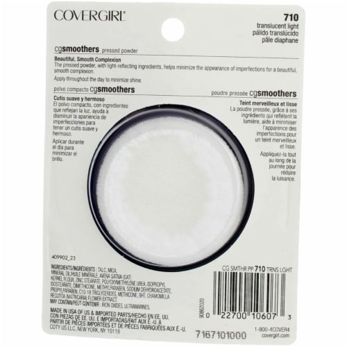 CoverGirl CG Smoothers® 710 Translucent Light Pressed Powder Perspective: back
