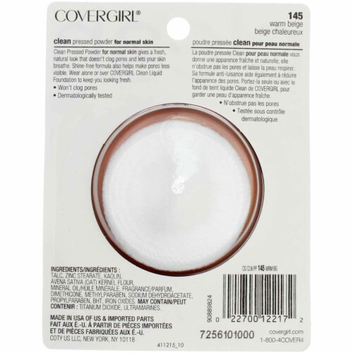 CoverGirl Clean Normal Warm Beige Pressed Powder Perspective: back