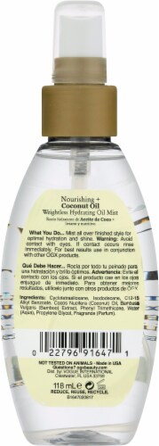 OGX® Nourishing Coconut Oil Hydrating Mist Perspective: back
