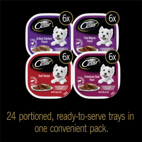 Cesar® Classic Loaf in Sauce Variety Pack Wet Dog Food Perspective: back