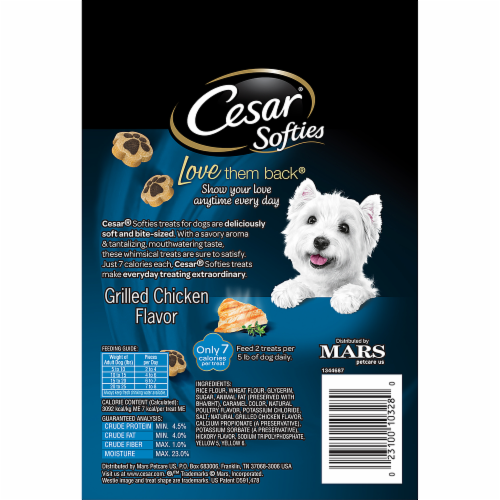 Food Less Cesar Softies Grilled Chicken Flavor Dog Treats - Every day this dog goes shopping all by himself to get treats