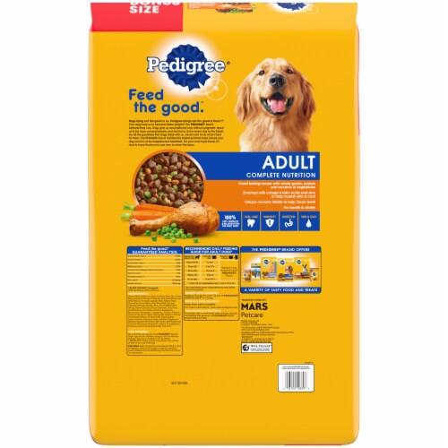 Pedigree® Adult Complete Nutrition Roasted Chicken Rice & Vegetable Flavor Dry Dog Food Perspective: back