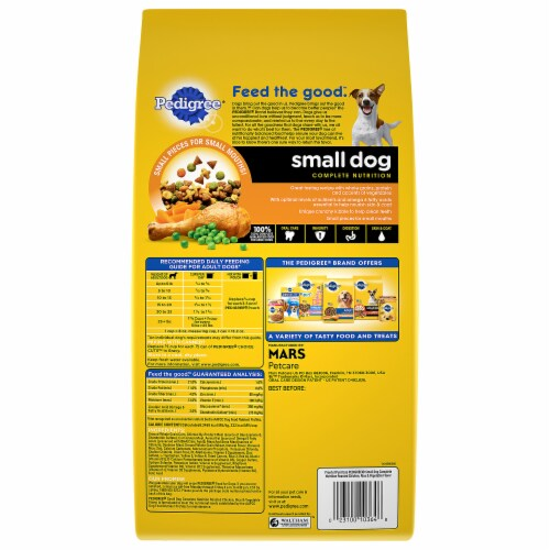 Pedigree Complete Nutrition Roasted Chicken Rice & Vegetable Small Dog Dry Dog Food Perspective: back
