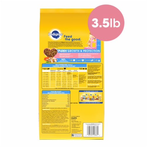 Pedigree® Puppy Growth & Protection Chicken & Vegetable Flavor Dry Puppy Food Perspective: back