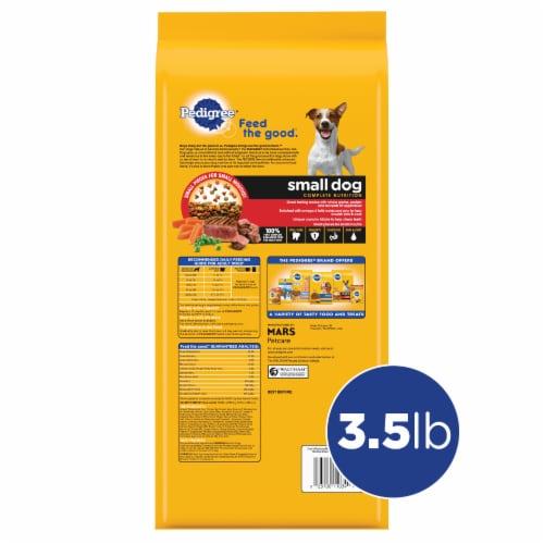 Pedigree Small Dog Grilled Steak & Vegetable Flavor Adult Dry Dog Food Perspective: back