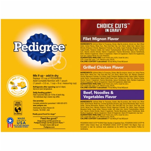 Pedigree Choice Cuts in Gravy Wet Dog Food Variety Pack Perspective: back