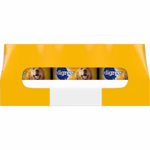 Pedigree Fliet Mignon & Bacon and Beef Bacon & Cheese Wet Dog Food Variety Pack Perspective: back