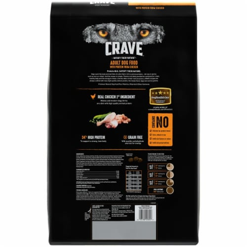 Crave with Protein From Chicken Grain Free Adult Dog Food Perspective: back