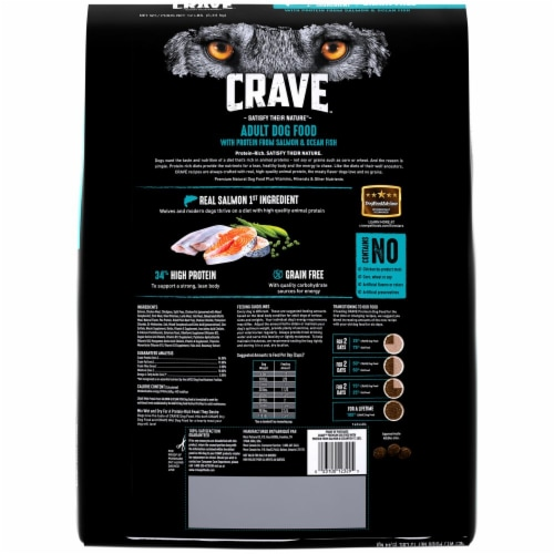Crave with Protein from Salmon & Ocean Fish Grain Free Adult Dog Food Perspective: back