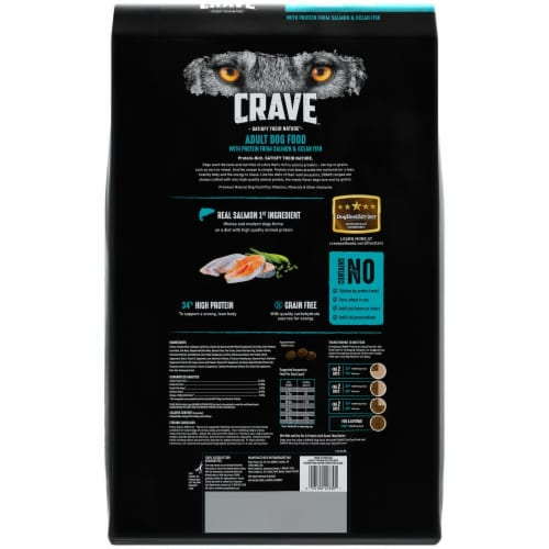 Crave Grain Free with Protein From Salmon & Ocean Fish Adult Dry Dog Food Perspective: back