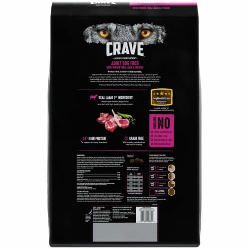 Crave with Protein from Lamb & Venison Grain Free Adult Dog Food Perspective: back
