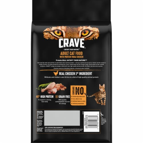 Crave Grain Free with Protein From Chicken Adult Cat Food Perspective: back