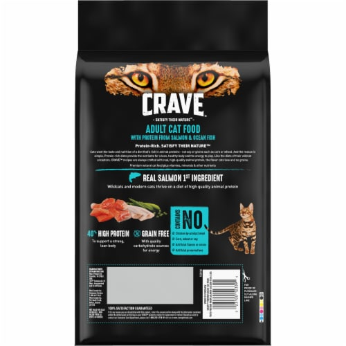 Crave Salmon & Ocean Fish Protein Adult Cat Food Perspective: back