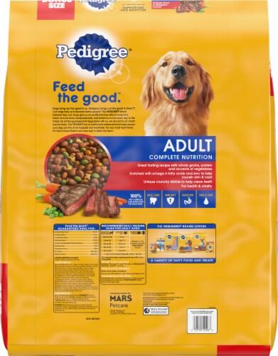 Pedigree® Adult Complete Nutrition Grilled Steak & Vegetable Flavor Dry Dog Food Bonus Size Perspective: back