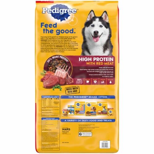 Pedigree High Protein Beef & Lamb Flavor Adult Dog Food Bonus Size Perspective: back