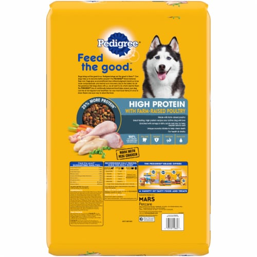 Pedigree® High Protein Chicken and Turkey Flavor Adult Dog Food Perspective: back